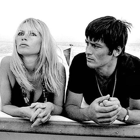 Brigitte With Alain Delon In Saint Tropez 1968 Brigittebardot
