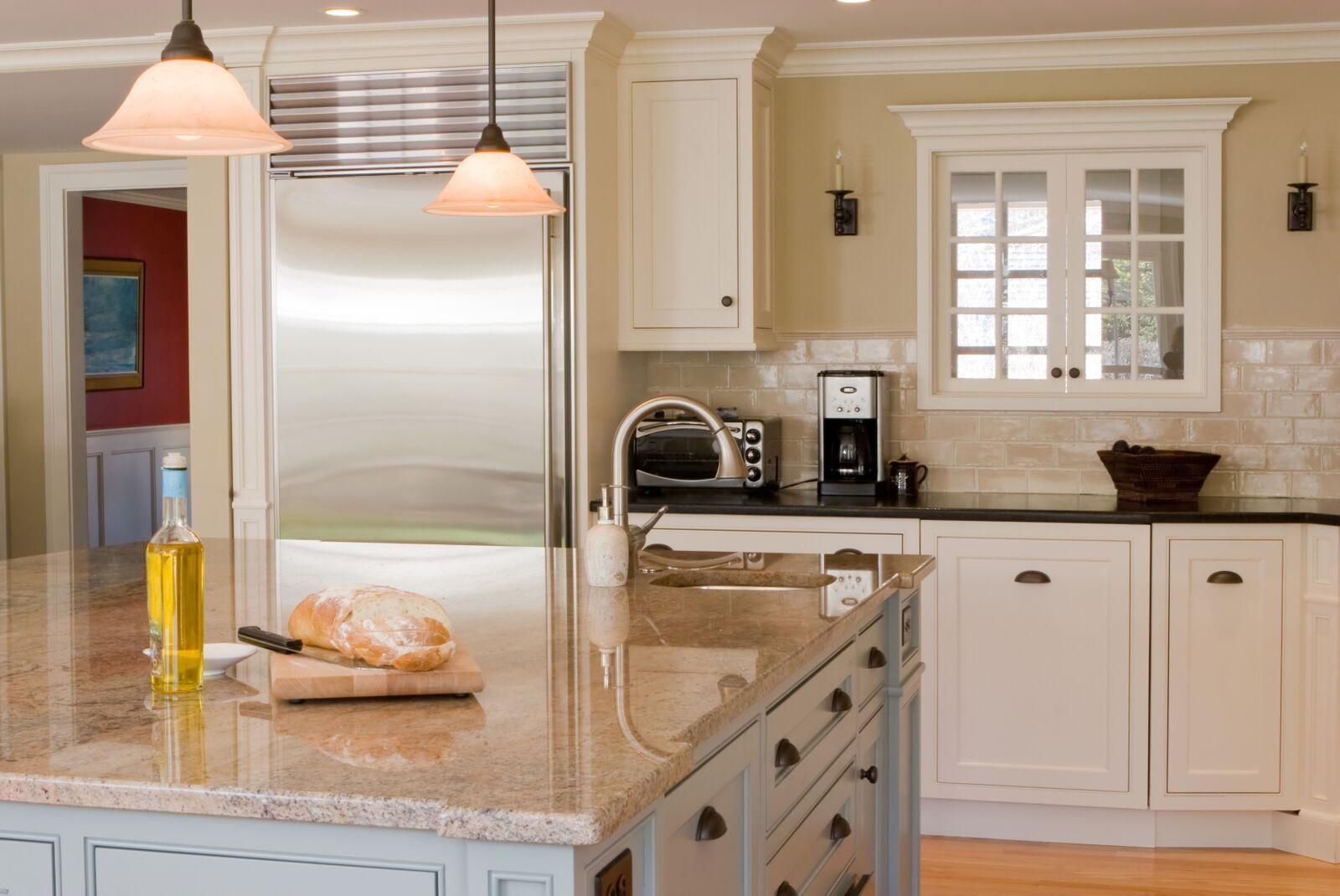 20 Bainbrook Brown Granite Countertop Kitchen Design And Layout Ideas Check More A Cheap Granite Countertops Granite Countertops Granite Countertops Kitchen