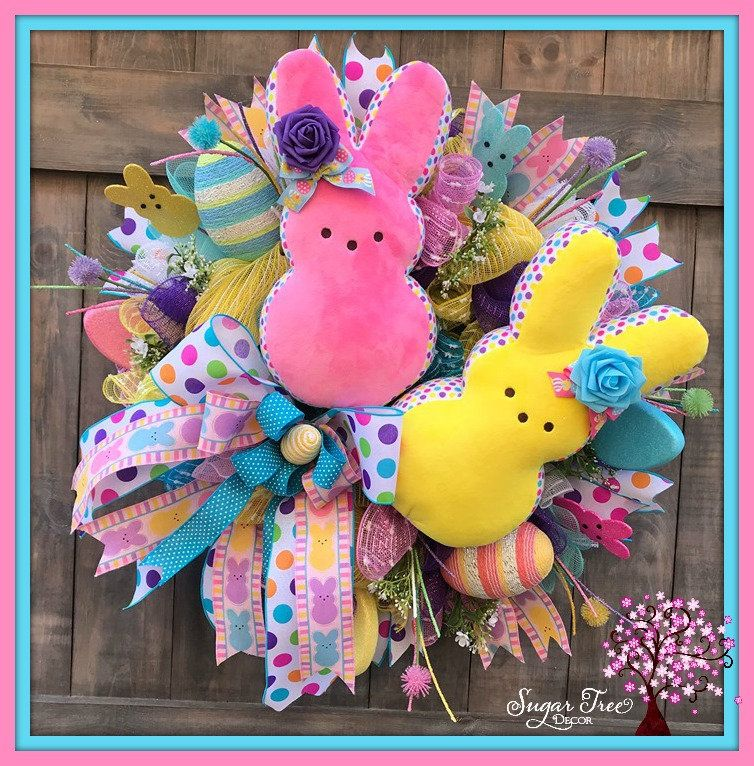 Photo of Easter Wreath, Easter Bunny Wreath, Bunny Wreath, Easter Decor, Spring Decor, Spring Wreath, Front Door Wreath, Sugar Bunny Wreath
