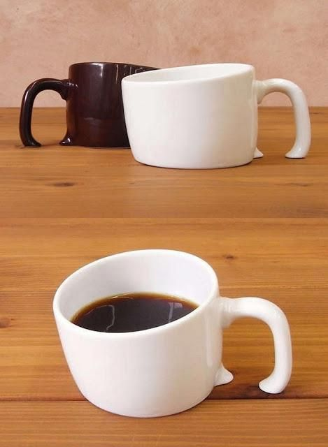 Inter-dimensional coffee cups! Serve this in the morning and have your house guests looking two, three and four times over