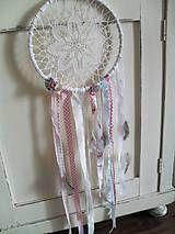 Dekorácie - Čipkovaná dekorácia ala dream catcher  - 5547429_