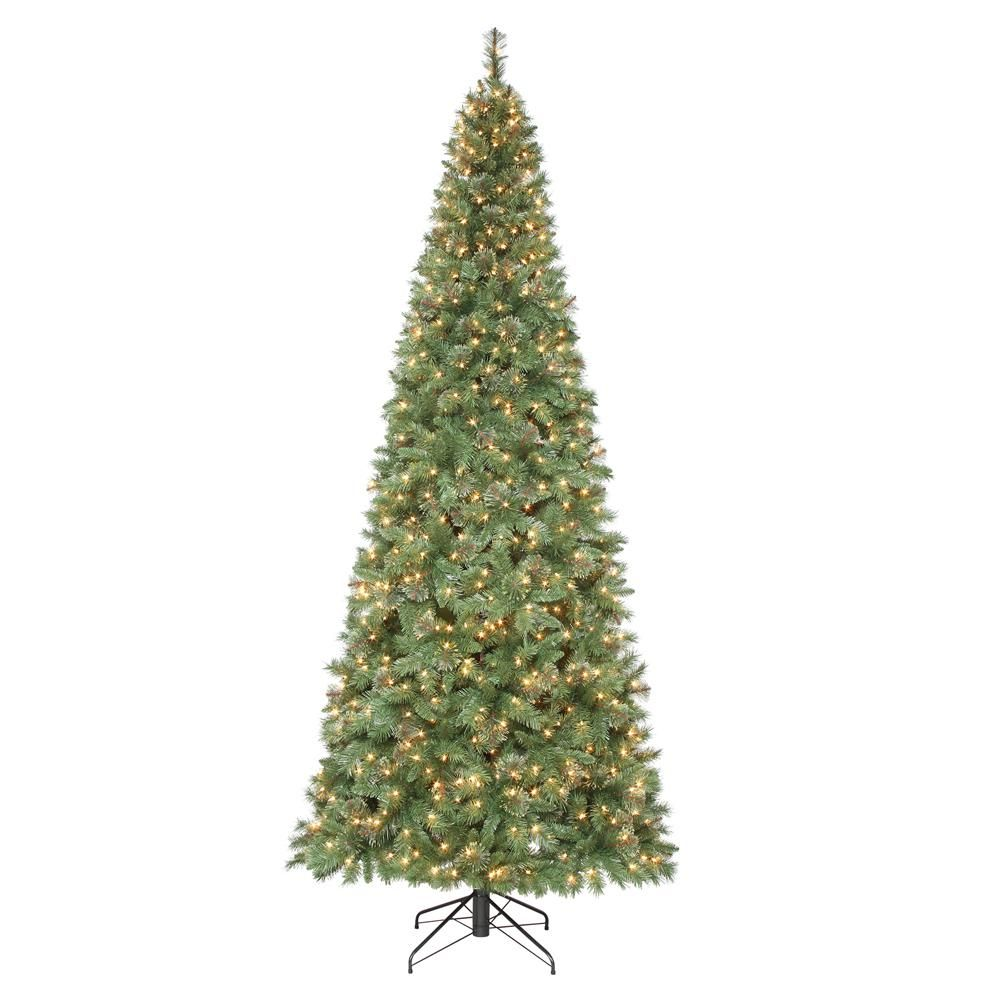 Home Accents Holiday 10 Ft Pre Lit Juniper Spruce Artificial Christmas Tree W Slim Artificial Christmas Trees Artificial Christmas Tree Pre Lit Christmas Tree