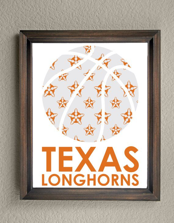 This colorful University of Texas Basketball Print is an original pattern…