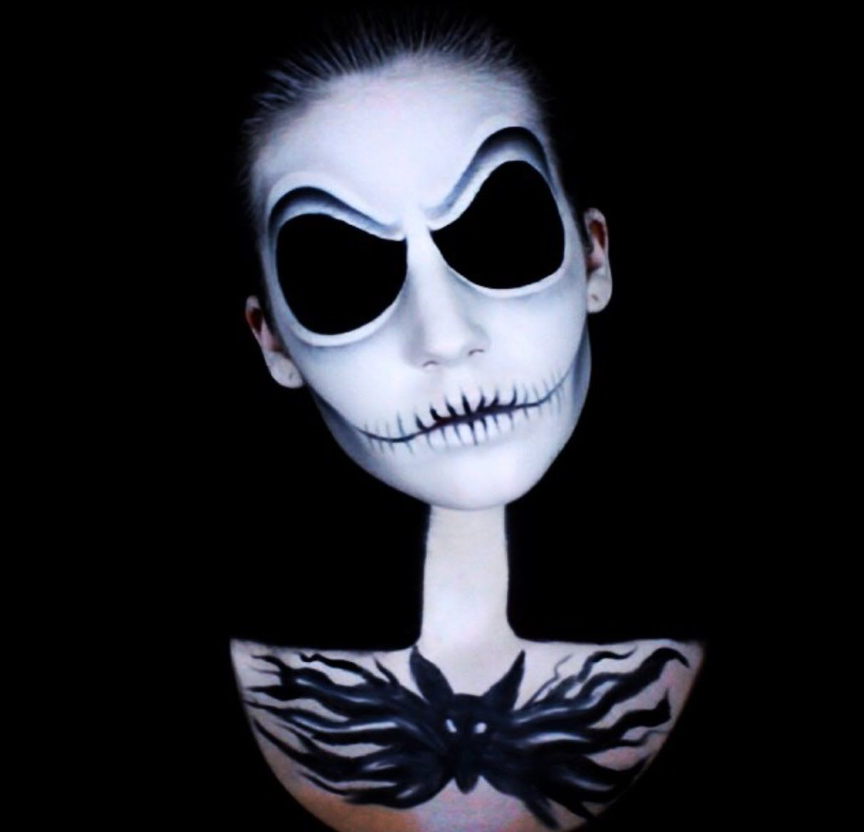 Diy jack skellington s body nightmare before christmas youtube - Halloween Is Upon Us Today We Are Going To Become The Pumpkin King The Look Is Based Off Of This Incredible Jack Skellington Makeup By Lin