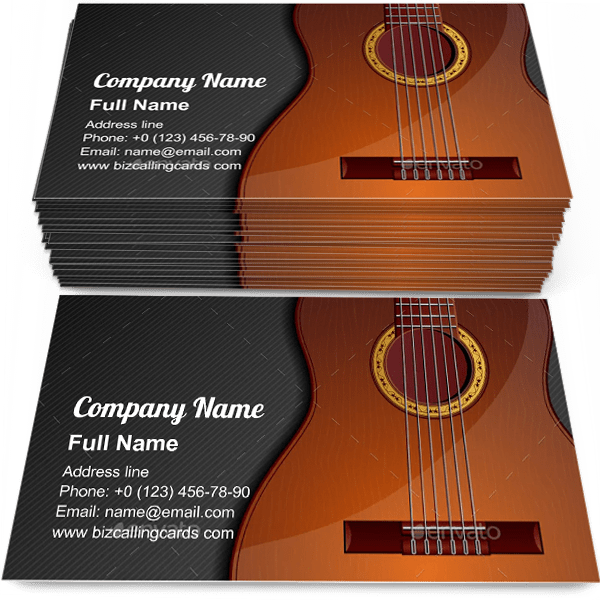 Classic Acoustic Guitar Business Card Template Find Yours Create A Calling Card Classic Acoustic G Visiting Card Design Business Card Template Visiting Cards