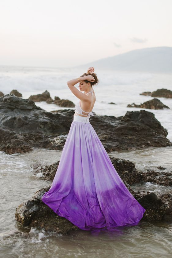 Ethereal Maui Wedding Inspiration In 2019 Colored Wedding
