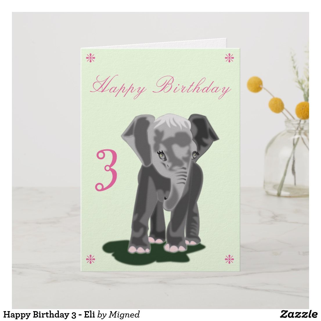 Happy birthday 3 eli card