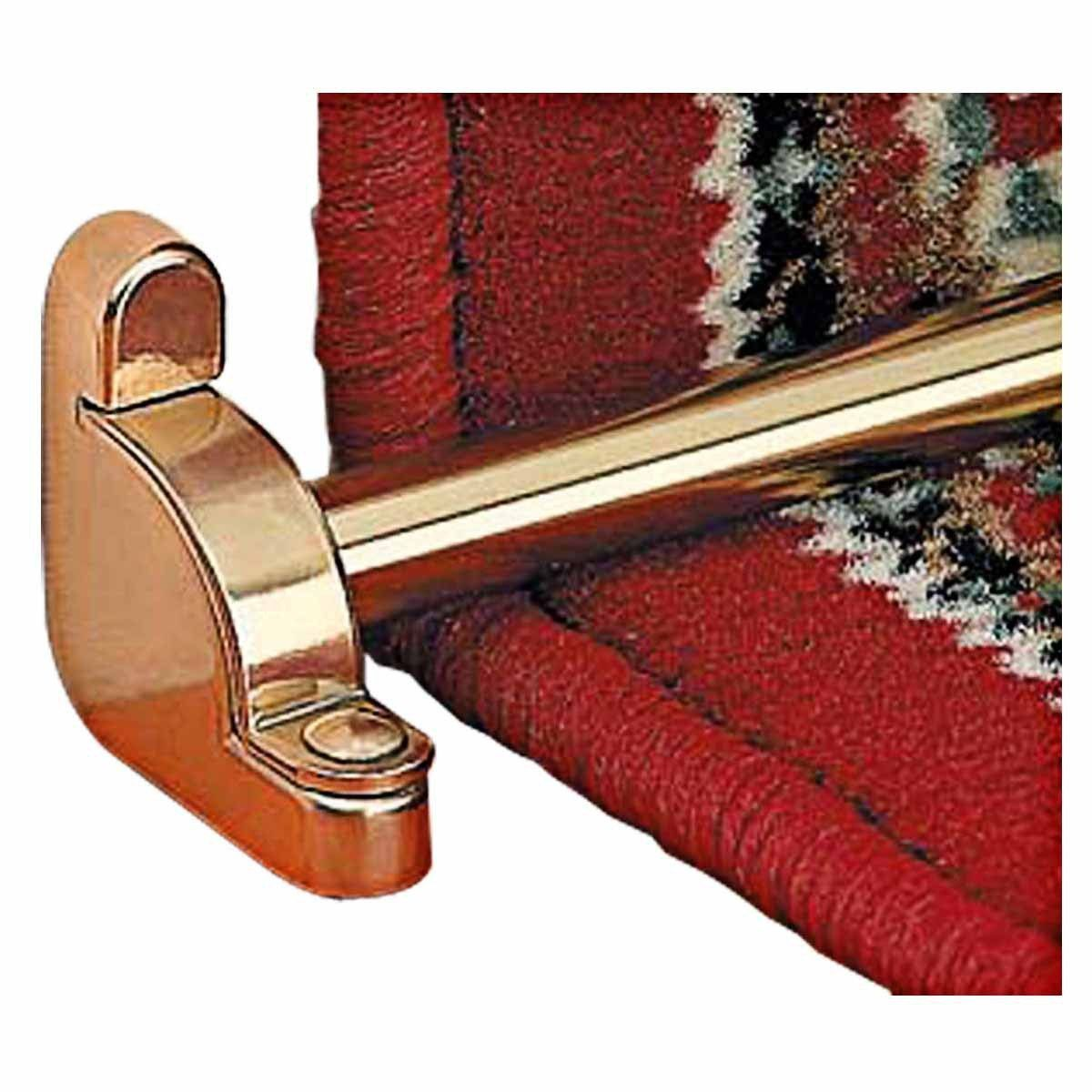 Best Bright Brass Carpet Rod Holder For Stair Runner 39 5 8 640 x 480