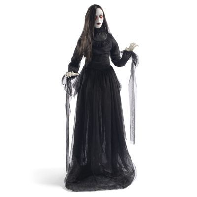 Life-size Lady in Black Figure This Is Halloween Pinterest