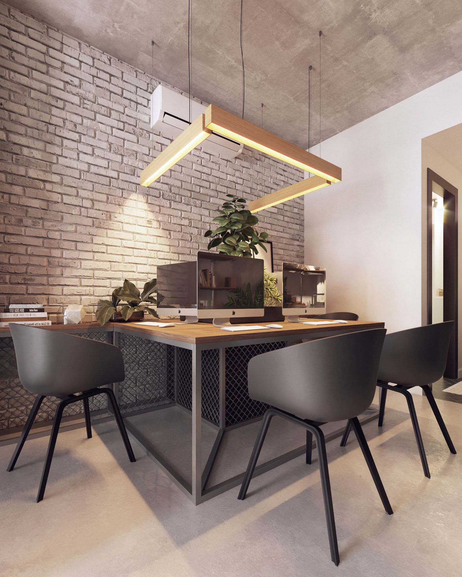 Small Officetel On Behance In 2020 Office Furniture Design Office Interior Design Office Table Design
