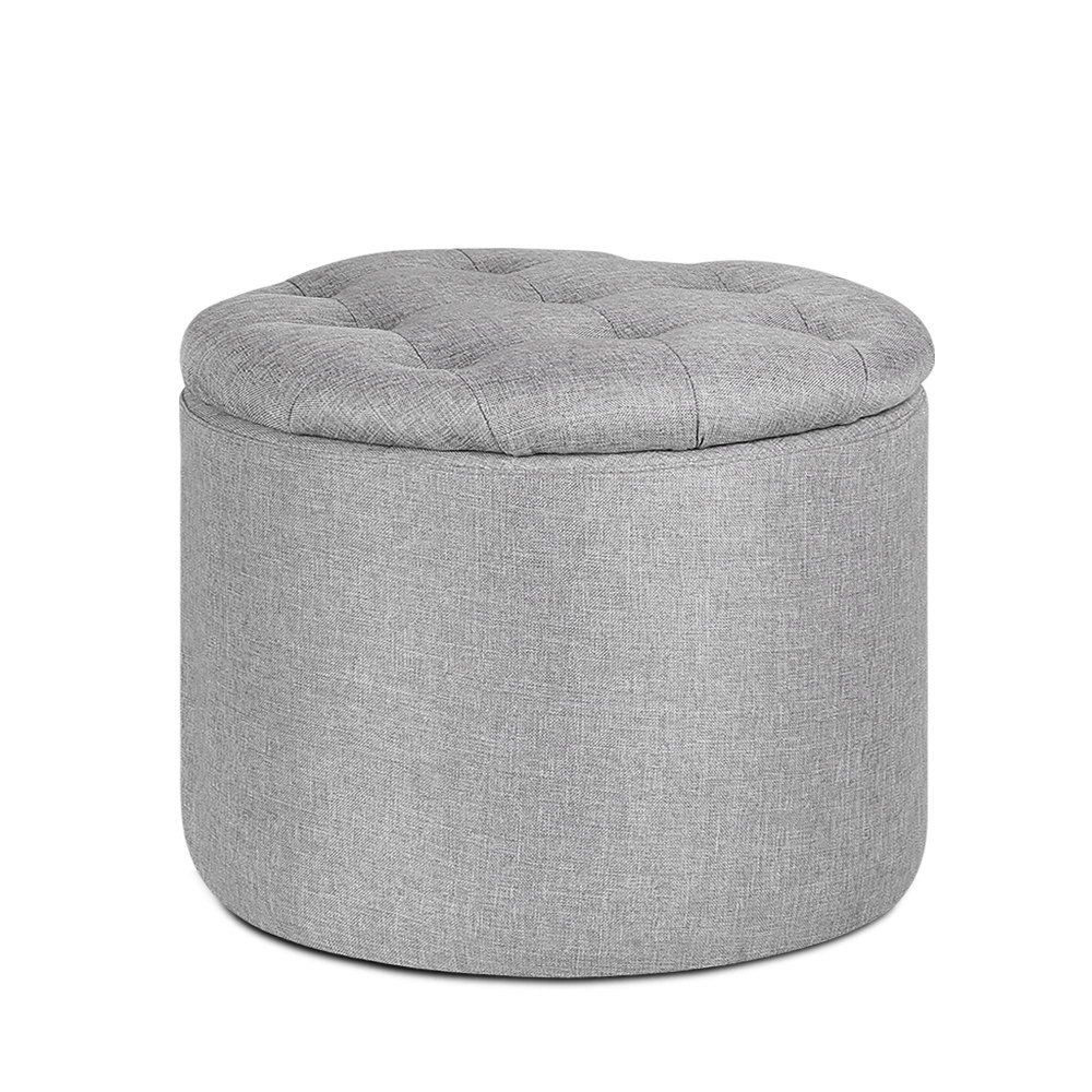 Pine Wood Ottoman Footstool With Storage Light Grey Wood Ottoman Living Room Grey Ottoman