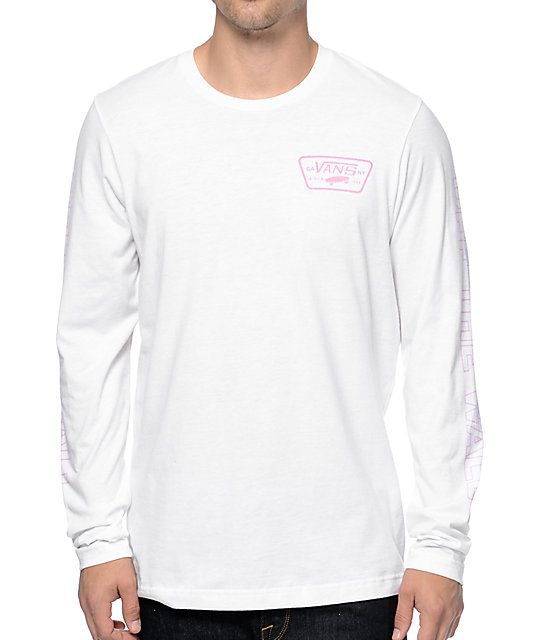 75a88b023e2da9 For those days a short sleeve tee just won t cut it reach for the new Vans  Full Patch long sleeve t-shirt. Stay comfortable all day in this custom fit  long ...