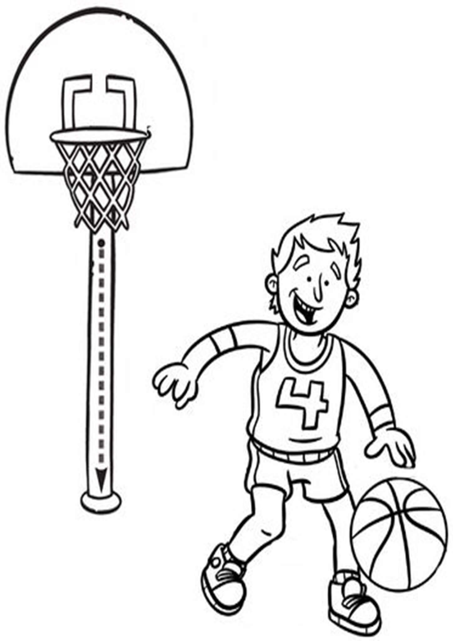 Printable Coloring Pages Basketball Desain