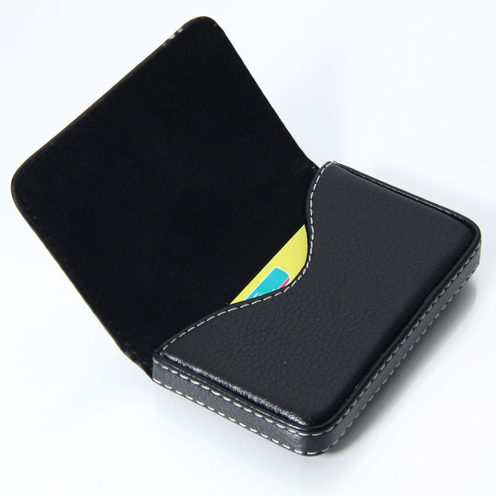 New black pocket pu leather business id credit card holder case new black pocket pu leather business id credit card holder case wallet reheart Gallery