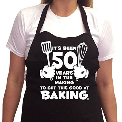 Womens Birthday GIFT BOXED Its Been 50 Years In The Making To Get This Good At Baking 1967 Funny Bbq Kitchen Cooking Aprons Novelty 50th