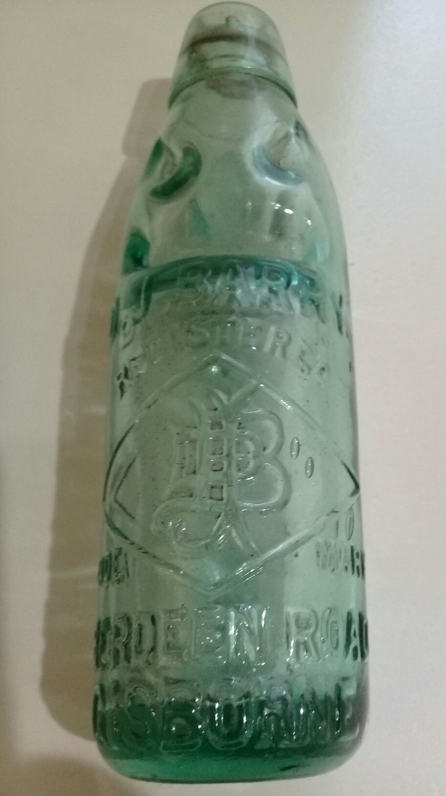 D J Barry Gisborne Drink Bottle With Glass Marble In Neck For Reseal Early 20th Century Era Mason Jar Lamp Glass Marbles Novelty Lamp