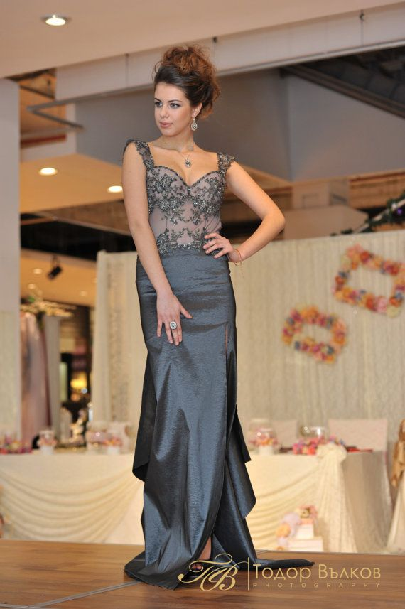 Graphite Low back Dress, Mother of the groom dress or Mother of the ...