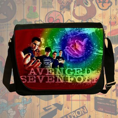 NEW HOT!!! Avenged Sevenfold Messenger Bag, Laptop Bag, School Bag, Sling Bag for Gifts & Fans #03
