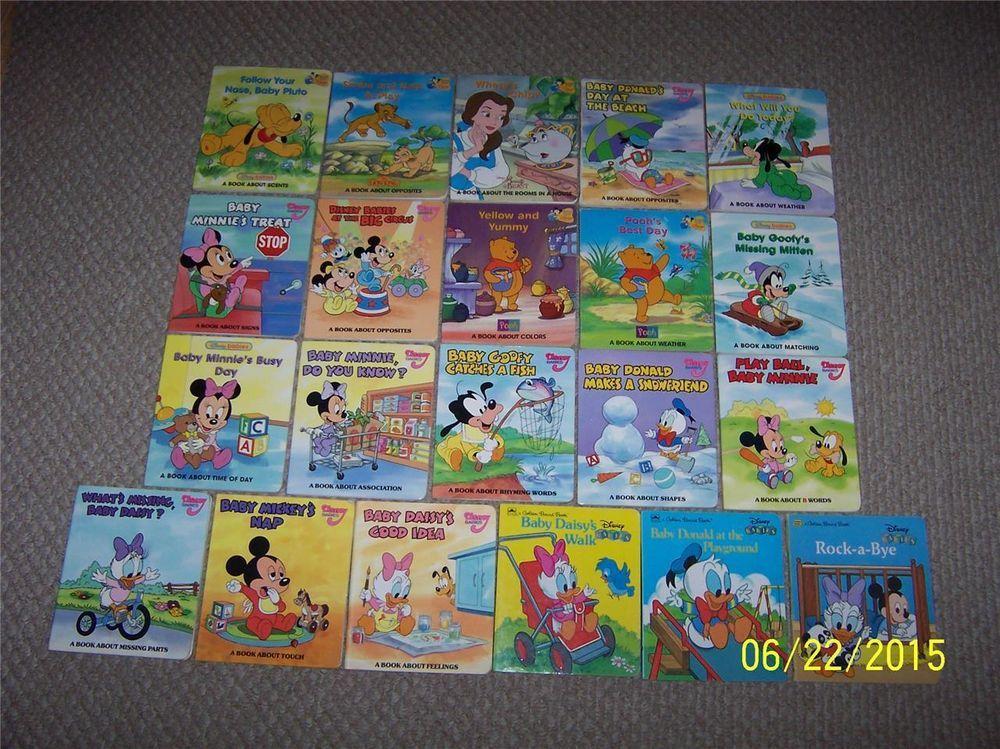 21 disney babies board booksmickey minnie mousegrolier
