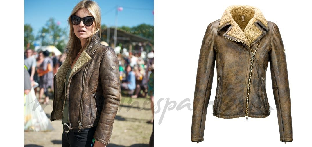 Kate Moss (Shearling Lady Blouson 1.890€ )