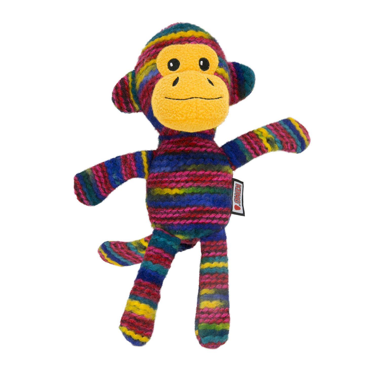 Kong Yarnimals Monkey Toy For Dog Medium Multi Color Dog Toys