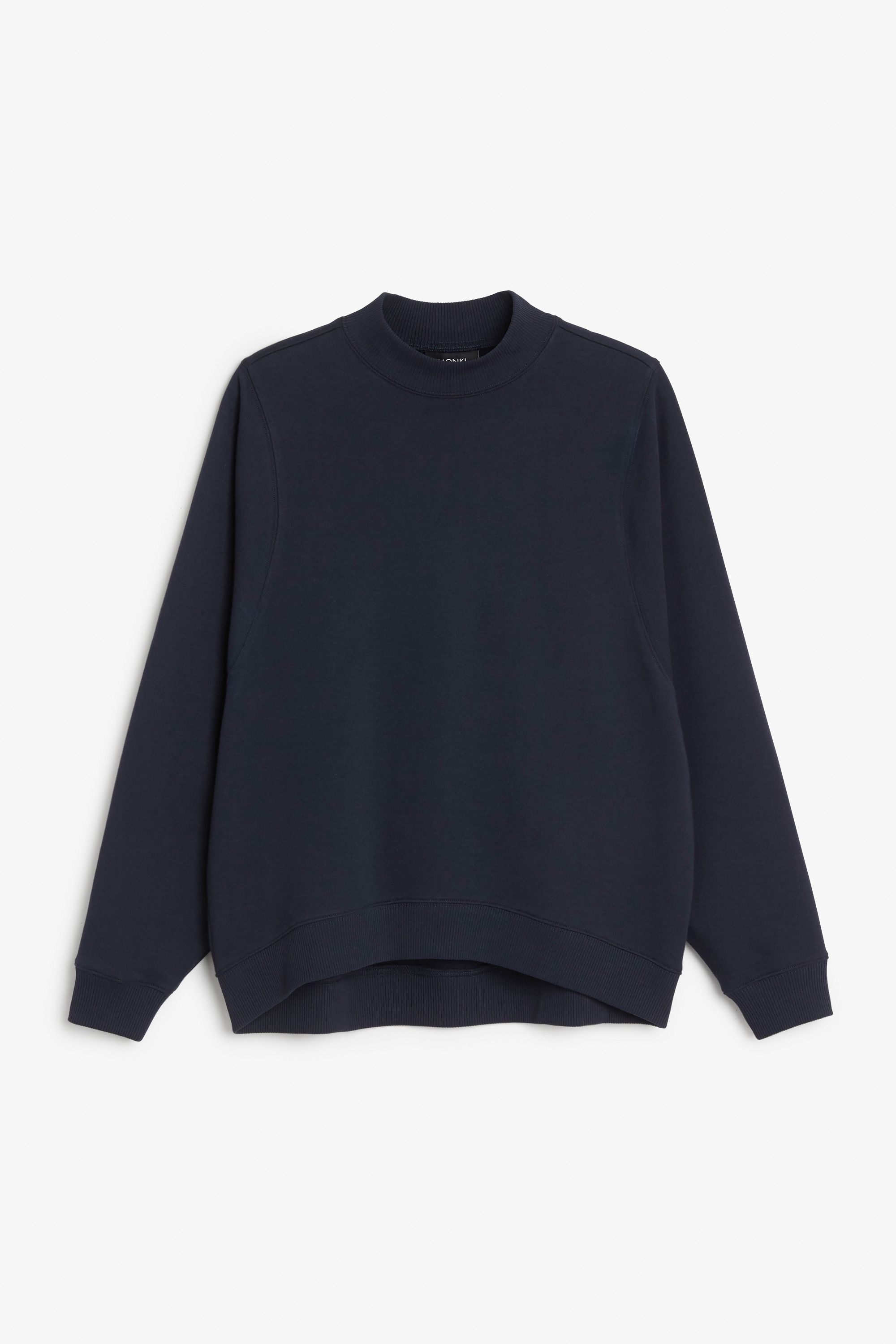 Monki Image 1 of Loose-fit sweater in Blue Reddish Dark