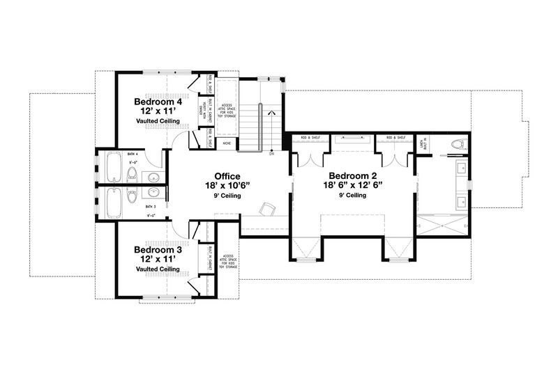 Beach Style House Plan 4 Beds 4 5 Baths 2799 Sq Ft Plan 443 14