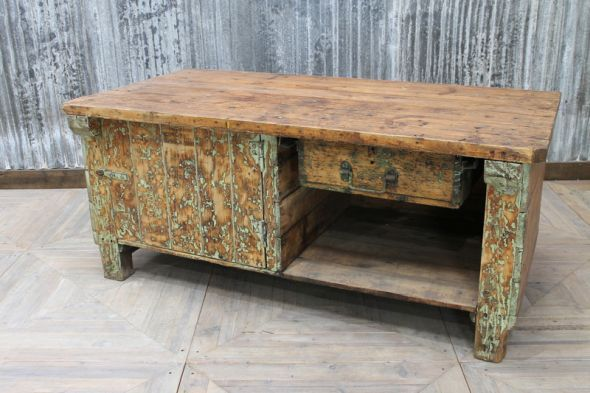 A Kitchen With Vintage Character: This Vintage Factory Sideboard Has Lots Of Charm And