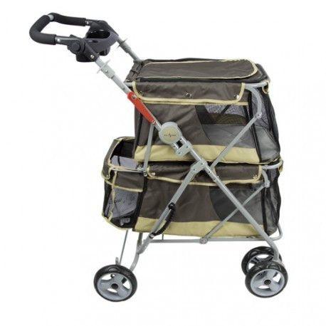 Nomad Pet stroller til dyr opp til 25 kgs. Med lommer, belter, justerbart håndtak og 2 individuelle bager. Lett å slå sammen. Ca. 2000 kr. per juni 2016
