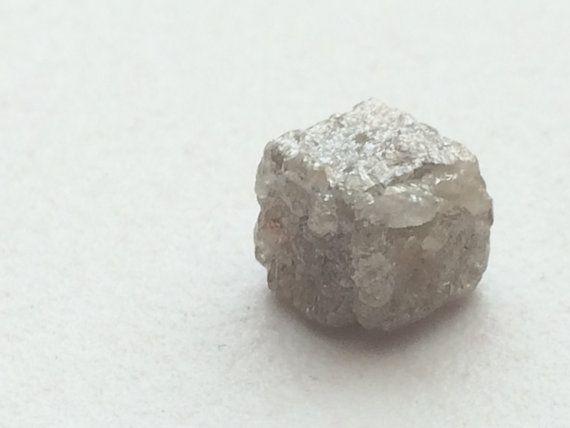 Grey Rough Diamond Cube Grey Loose Rough Diamond by gemsforjewels