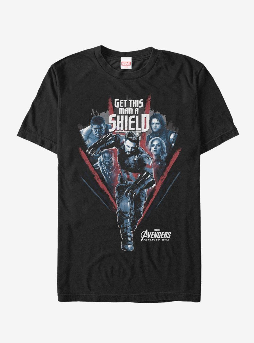 ee59bd12f Marvel Avengers: Infinity War Get Captain Shield Run T-Shirt in 2019 ...