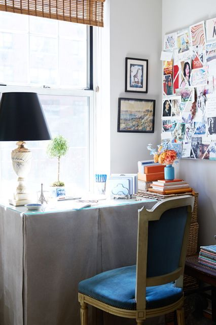 This NYC Apartment Is Proof That Cool Art Can Be Found At The Flea  #refinery29 Http://www.refinery29.com/one Kings Lane/24#slide 9 Clawsonu0027s  Home Office ...