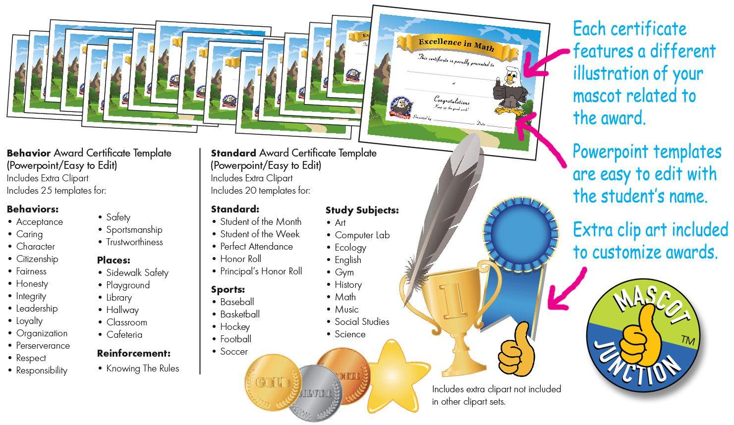 Award Certificates Pbis Pbis Reward Ideas Pinterest