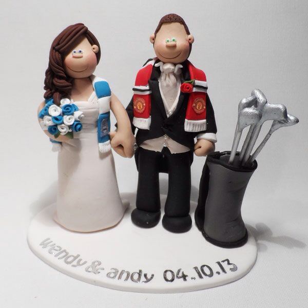 man city wedding cake toppers a united and manchester city themed golf wedding cake 17102