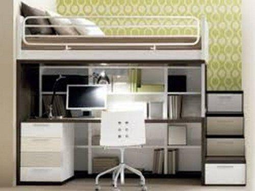 Dormitorio juvenil peque o 9 habitaciones pinterest - Dormitorios juveniles espacios pequenos ...
