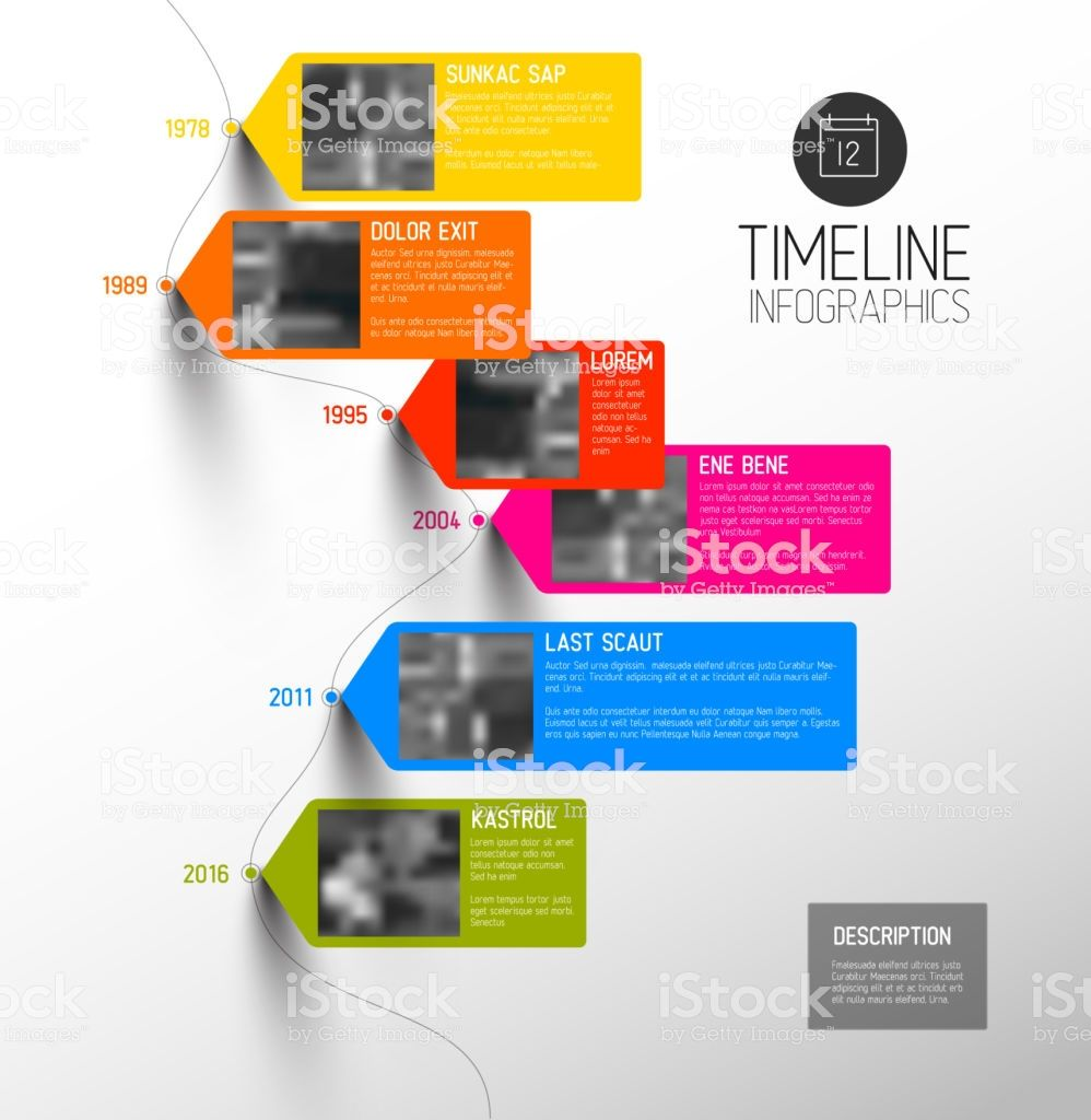 Vector Colorful Infographic Typographic Timeline Report