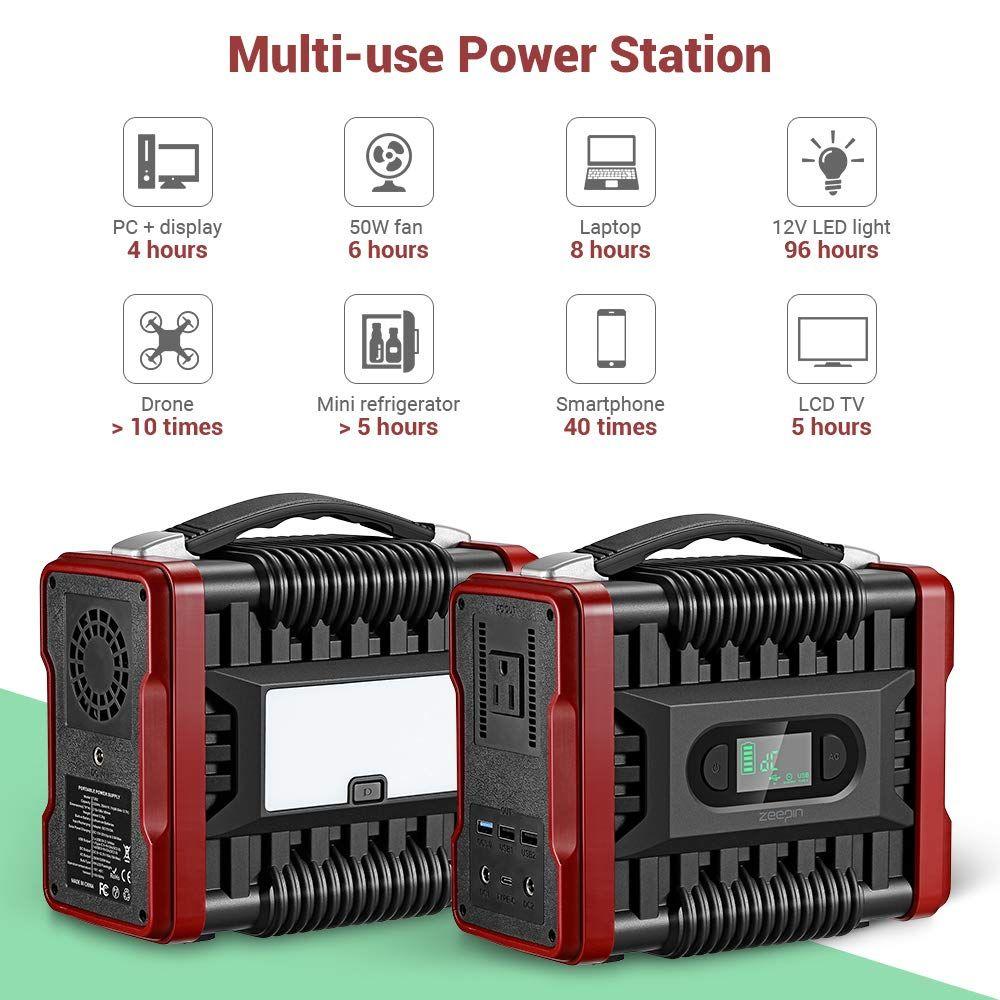 Zeepin Portable Power Station Generator 222wh Emergency Backup Lithium Battery