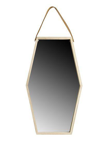 Skandinavisches Design! Sechseckiger Spiegel mit dekorativen ...