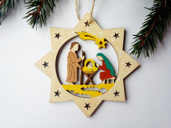 Eco Friendly Christmas Ornament Personalized Custom by WoodenLook