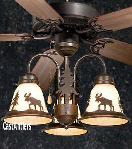 52 lodge rustic cabin country ceiling fan wlight kitbearmoose ceiling fan 52 lodge rustic mozeypictures Image collections