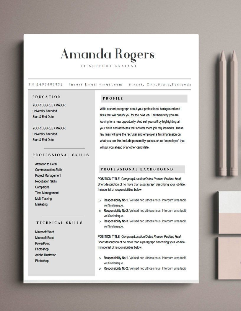 Administration Resume Modern Resume Template Professional Cv
