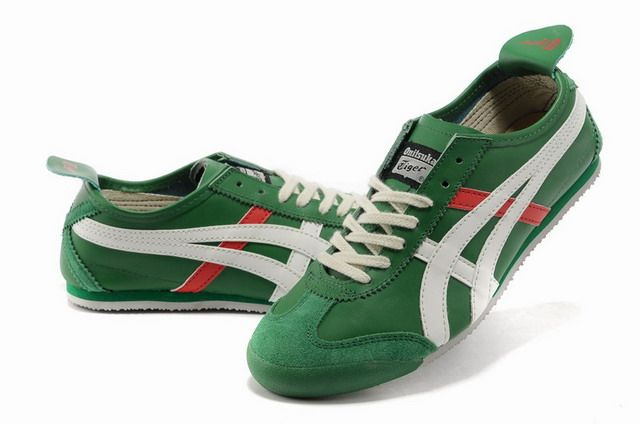 Discount Asics Mexico 66 Shoes Green on Sale - Men's Onitsuka Tiger Shoes