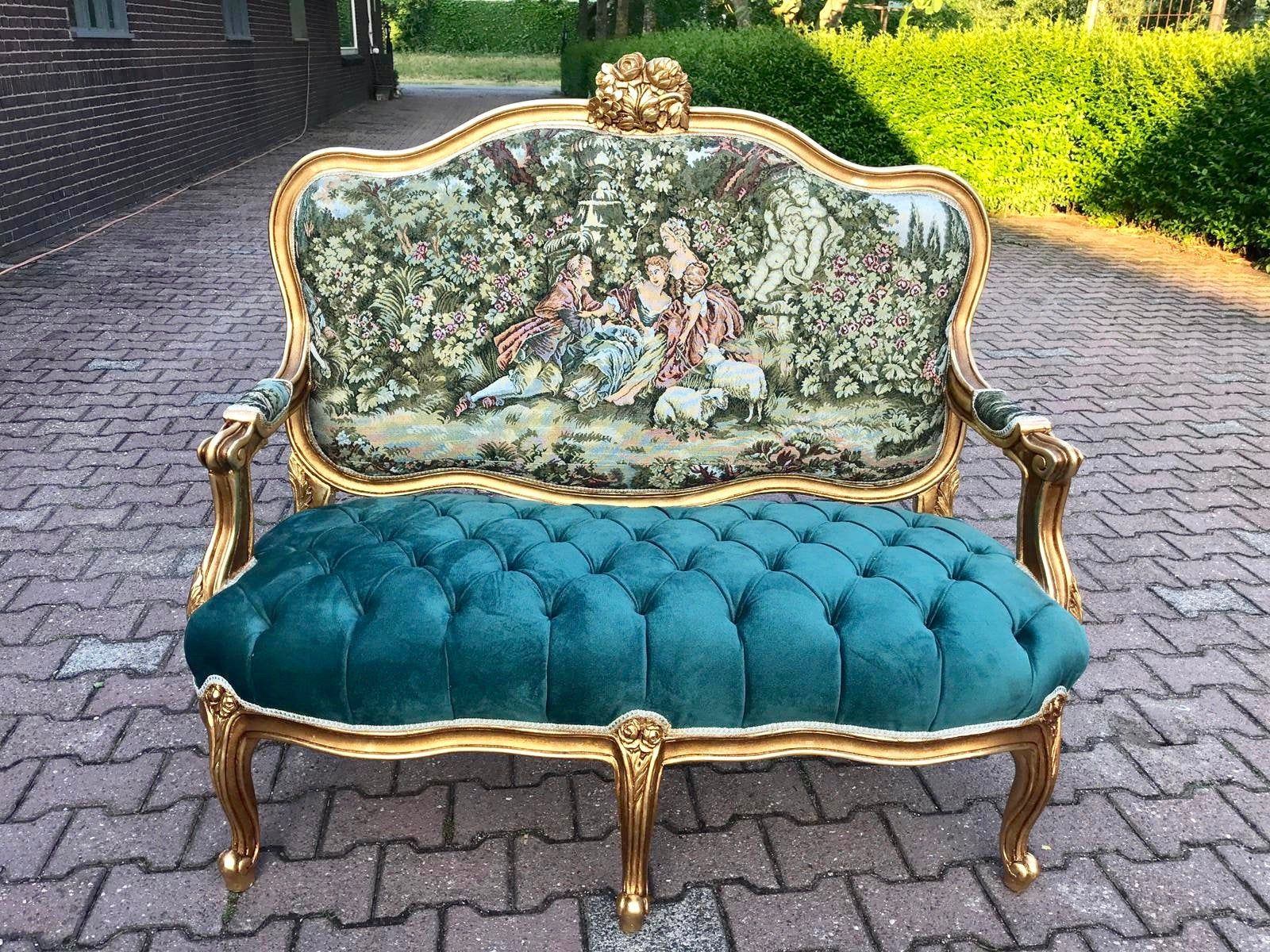 French Settee French Marquise Vintage Furniture Louis Xvi Etsy In 2020 Rococo Furniture Furniture Baroque Furniture