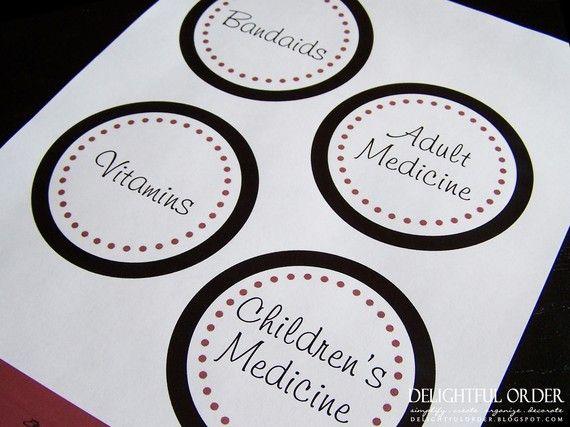 Medicine Cabinet Labels Pdf Printable File Instant Digital