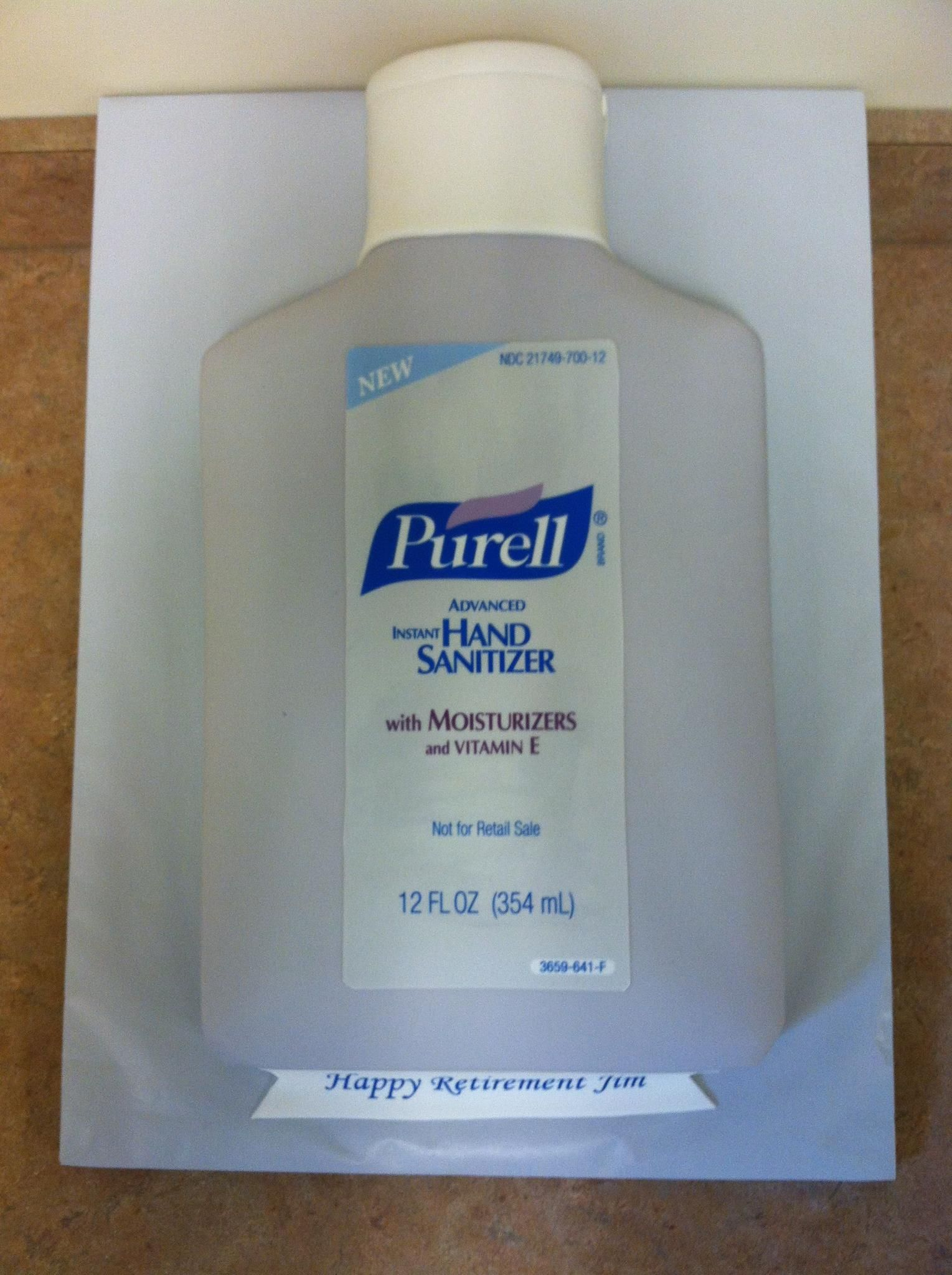 Purell Retirement Cake With Images Retirement Cakes Custom