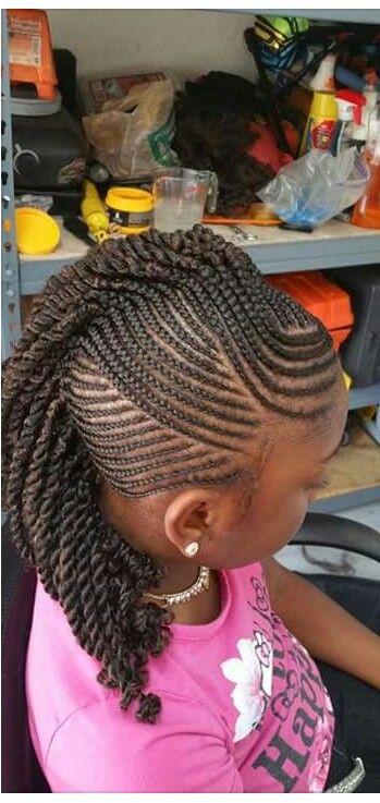 Little girl mohawk braids