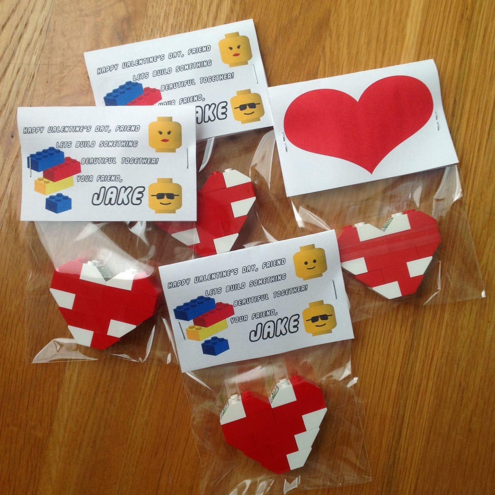 JulieChats: DIY Lego Valentine Hearts to Exchange ...