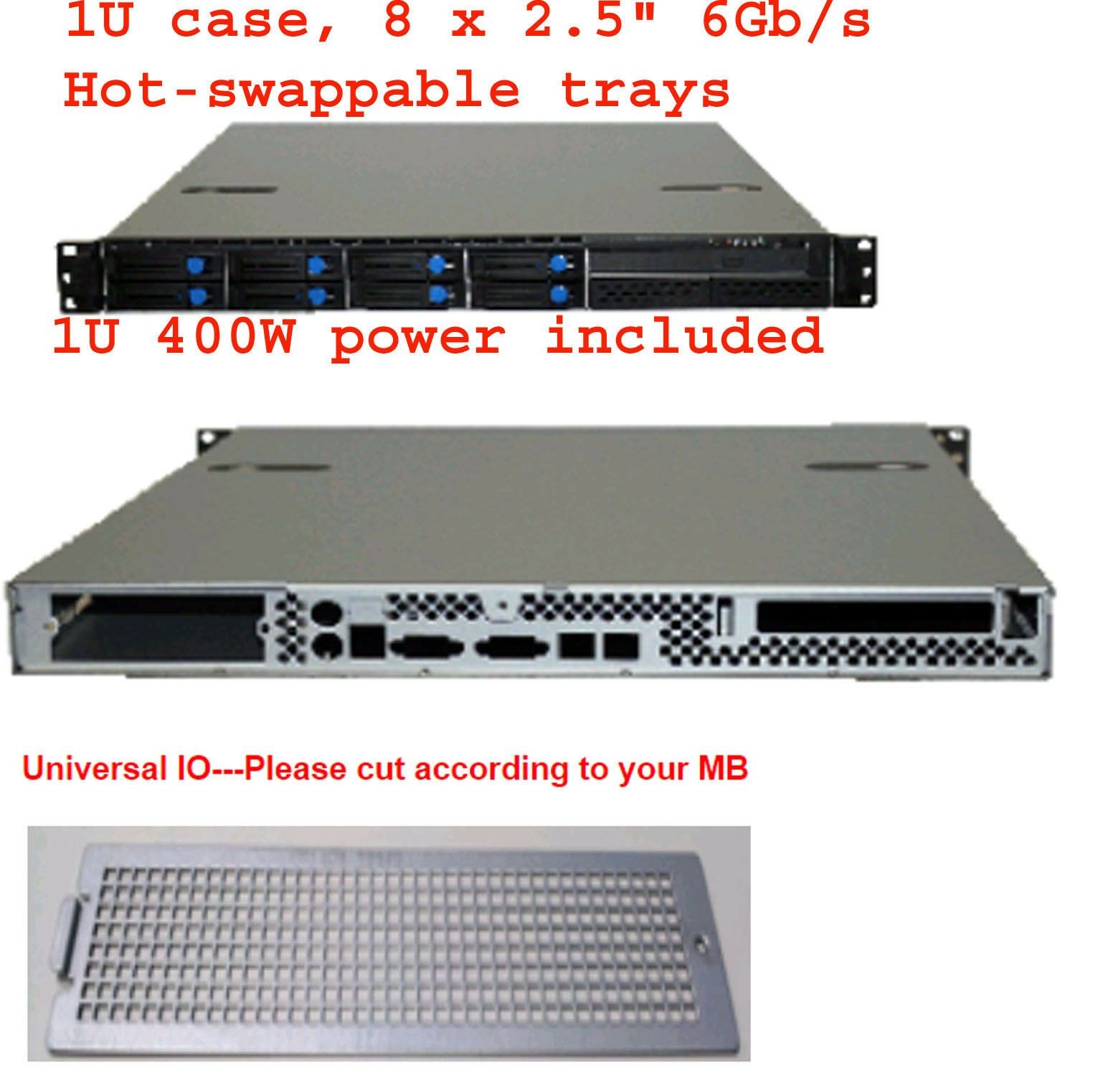 Rackmount Cases And Chassis 64061 1u W 400w Psu 8 X 2 5 6gb S Hdd Bay Rackmount Chassis Micro Atx Itx Case Buy It No Riser Cards Atx Retail Packaging