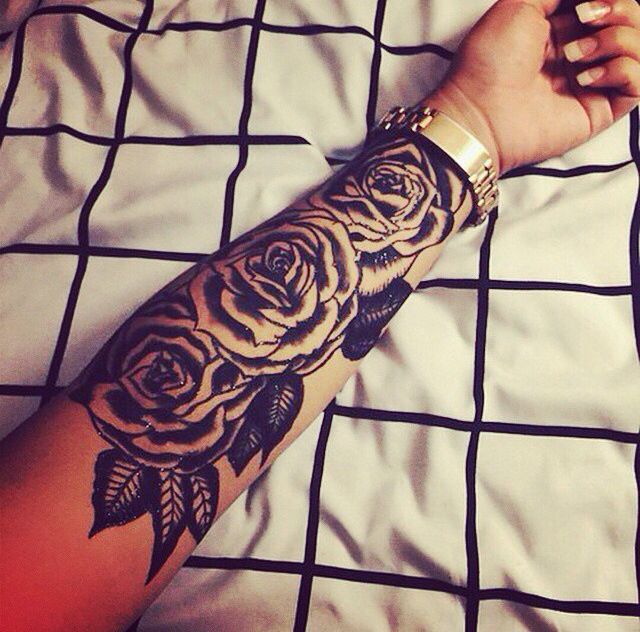 Diff Flowers Some Colors Rose Tattoo Sleeve Tattoos