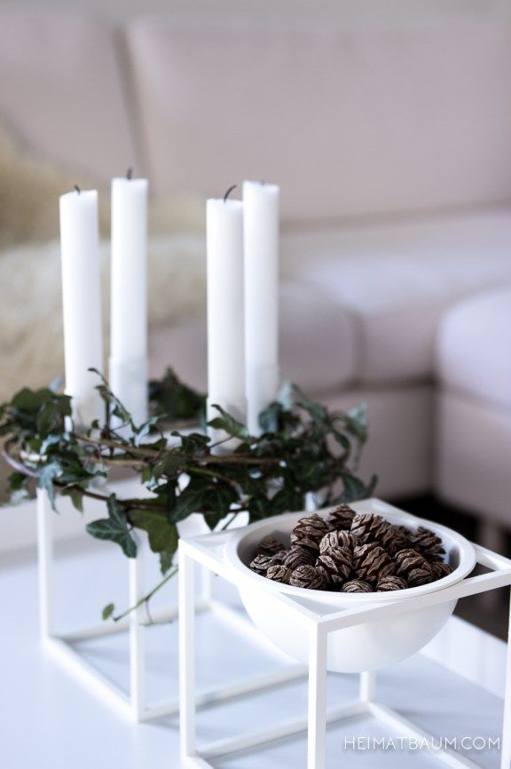 Kubus candle holder and kubus bowl by mogens lassen from for Dekorationsideen weihnachten